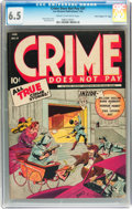 """Golden Age (1938-1955):Crime, Crime Does Not Pay #31 Davis Crippen (""""D"""" Copy) pedigree (Lev Gleason, 1944) CGC FN+ 6.5 Cream to off-white pages...."""