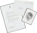 Autographs:U.S. Presidents, Jacqueline Kennedy Typed Letter Signed on Mourning Stationery. ...(Total: 2 Items)