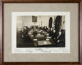 Autographs:U.S. Presidents, Harry S. Truman and Cabinet Signed Photograph. ...