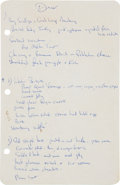Autographs:U.S. Presidents, Jacqueline Kennedy White House Menus. ... (Total: 31 Items)