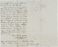 "Autographs:Military Figures, [Civil War]. John Ellis Wool Autograph Letter Signed ""John E.Wool.""..."