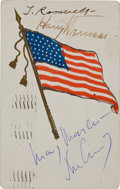 Autographs:U.S. Presidents, Theodore Roosevelt, Harry Truman, and John F. Kennedy Postcard Signed....