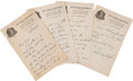 Autographs:Celebrities, Charles Lindbergh Autograph Letter Signed...