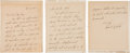 "Autographs:Celebrities, Charles Lindbergh Autograph Letter Signed ""Charles A.Lindbergh.""... (Total: 4 Items)"