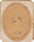"""Autographs:Military Figures, Robert E. Lee Photograph Signed """"R E Lee"""" with a Mary Custis Lee autograph letter and letter of provenance...."""