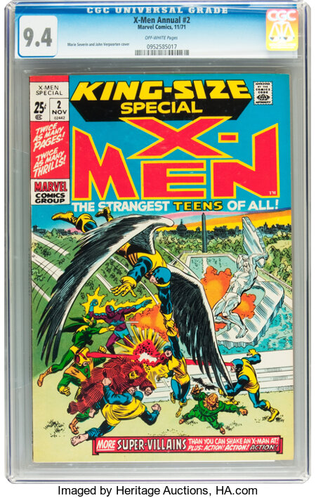 X-Men Annual #2 (Marvel, 1971) CGC NM 9.4 Off-white pages....