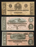 Confederate Notes:1863 Issues, 1863 and 1864 Confederate Notes.. ... (Total: 3 notes)