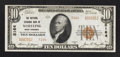 National Bank Notes:West Virginia, Wheeling, WV - $10 1929 Ty. 2 The National Exchange Bank Ch. #5164. ...