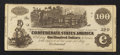 Confederate Notes:1862 Issues, CT39/290A Counterfeit $100 1862.. ...