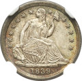 Seated Half Dimes, 1839 H10C No Drapery MS67 NGC....