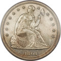Proof Seated Dollars, 1863 $1 PR64 Cameo PCGS....