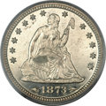 Proof Seated Quarters, 1873 25C Arrows PR64 PCGS....