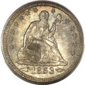 Seated Quarters, 1853 25C Arrows and Rays MS65 PCGS. CAC....
