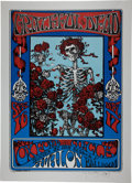 Music Memorabilia:Posters, Grateful Dead Skeleton and Roses Avalon Ballroom Poster Stanley Mouse Signed Art Print #271/350....