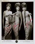Music Memorabilia:Autographs and Signed Items, The Supremes Autographed Publicity Photo....
