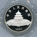 China:People's Republic of China, China: People's Republic of China. Silver Panda 50 Yuan (5 ounce) 1993,...