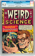 Golden Age (1938-1955):Science Fiction, Weird Science #12 (#1) Gaines File pedigree 2/9 (EC, 1950) CGC NM-9.2 Cream to off-white pages....