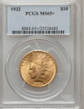 Indian Eagles, 1932 $10 MS65+ PCGS. PCGS Population (1079/90). NGC Census:(2270/178). Mintage: 4,463,000. Numismedia Wsl. Price for probl...