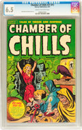 Golden Age (1938-1955):Horror, Chamber of Chills #21 (#1) (Harvey, 1951) CGC FN+ 6.5 Cream tooff-white pages....