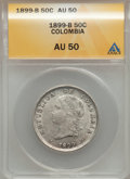 Colombia, Colombia: Bogota 50 Centavos 1899 Rarity,...