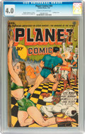 Golden Age (1938-1955):Science Fiction, Planet Comics #34 (Fiction House, 1945) CGC VG 4.0 Cream to off-white pages....