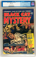 Golden Age (1938-1955):Horror, Black Cat Mystery #34 (Harvey, 1952) CGC VF+ 8.5 Cream to off-whitepages....