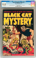 Golden Age (1938-1955):Horror, Black Cat Mystery #32 File Copy (Harvey, 1951) CGC VF/NM 9.0 Creamto off-white pages....