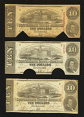 Confederate Notes:1863 Issues, T59 $10 1863 Three Examples.. ... (Total: 3 notes)