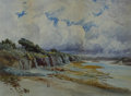 American:Regional, WILLIAM LEES JUDSON (American, 1842-1928). A View of a CoastalInlet on a Cloudy Day. Watercolor on paper. 20-1/2 x 27 i...