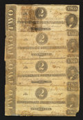 Confederate Notes:1863 Issues, T61 $2 1863 Four Examples.. ... (Total: 4 notes)