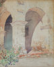 GUNNAR MAURITZ WIDFORSS (Swedish, 1879-1934) Mission San Juan Capistrano, 1923 Watercolor on paper 17 x 13-1/2 inches