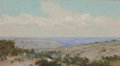 Texas:Early Texas Art - Regionalists, FRANK REAUGH (American, 1860-1945). On the Old SpanishTrail, 1926. Pastel on board . 5 x 10 inches (12.7 x 25.4 cm).Fa...
