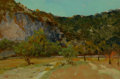 Texas:Early Texas Art - Regionalists, EDWARD G. EISENLOHR (American, 1872-1961). On the GuadalupeRiver, 1940. Oil on canvas board. 11-1/2 x 17-1/2 inches (29...