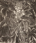 Texas:Early Texas Art - Drawings & Prints, MARY LIGHTFOOT (1889-1970). Banana Plant; Papayas (pair).Lithograph on paper. 12-1/2 x 10-1/4 inches (31.8 x 26.0 cm). ...(Total: 2 Items)