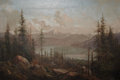 Fine Art - Painting, American:Antique  (Pre 1900), JUAN BUCKINGHAM WANDESFORDE (American, 1817-1902). A MountainLandscape with a Fallen Tree in the Foreground. Oil on can...