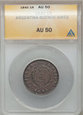 Argentina, Argentina: Buenos Aires early Cu Type Pair,... (Total: 2 coins)