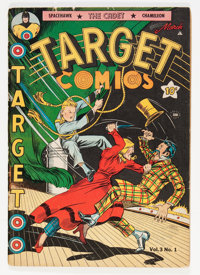 Target Comics V3#1 (Novelty Press, 1942) Condition: VG/FN