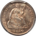 Seated Half Dimes: , 1870 H10C MS65 PCGS. PCGS Population (18/12). NGC Census: (23/15).Mintage: 535,000. Numismedia Wsl. Price for problem free...