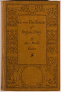 Books:World History, Alice Morse Earle. Curious Punishments of Bygone Days. New York: Duffield, 1907. Later edition. Octavo. 148 pages. P...