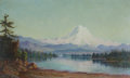 Fine Art - Painting, American, GRAFTON TYLER BROWN (American, 1841-1918). Mt. Tacoma from LakeWashington, 1887. Oil on canvas board. 12 x 20 inches (3...