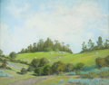 Fine Art - Painting, American:Modern  (1900 1949)  , WILLIAM LOUIS OTTE (American, 1871-1957). Serene Summer Hills(thought to be near Santa Barbara), 1915. Pastel on paper...