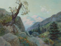 American:Western, WILLIAM LEES JUDSON (American, 1842-1928). Mountain Trail.Watercolor on paper. 16-3/4 x 21-3/4 inches (42.5 x 55.2 cm)...