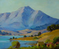 American:Impressionism, GEORGE DEMONT OTIS (American, 1879-1962). Mt. Tamalpais from theMarshes of Tiburon. Oil on board. 20 x 24 inches (50.8 ...