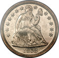 Proof Seated Dimes, 1858 10C PR64+ PCGS. CAC....
