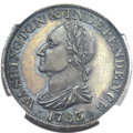 Colonials, 1783 1C Washington & Independence Cent, Draped Bust, No Button,Silver Restrike PR63 NGC. CAC. Baker-3A, W-10380, R.6....