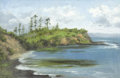 Paintings, ANNIE LYLE HARMON (American, 1855-1930). South Point of Agate Beach, Port Crescent, Washington, 1907. Oil on board...