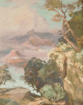 Fine Art - Painting, American, CARL OSCAR BORG (American, 1879-1947). The Grand Canyon. Gouache on paper laid on board. 16 x 13 inches (40.6 x 33.0 cm)... (Total: 1 Pieces)