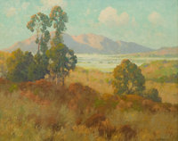 MAURICE BRAUN (American, 1877-1941) Valley in Summer Oil on canvas 16 x 20 inches (40.6 x 50.8 cm