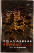 Books:Science Fiction & Fantasy, [Jerry Weist]. Brian Aldiss. SIGNED. Super-State. A Novel of a Future Europe. London: Orbit, 2002. First edition...