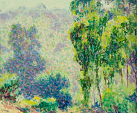 WILLIAM HENRY CLAPP (Canadian/American, 1879-1954) Impressionistic Landscape Oil on board 10 x 12